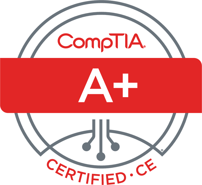 CompTIA A+ Certification Badge